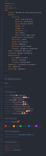 YAML and Metadata Example