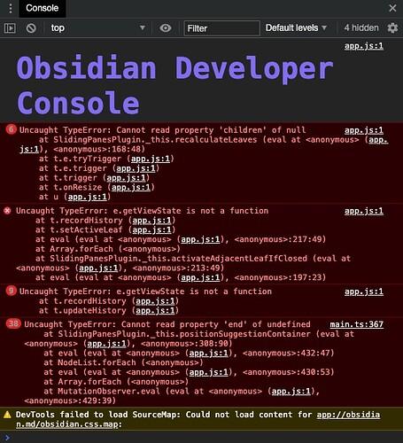 Obsidian_developer_console