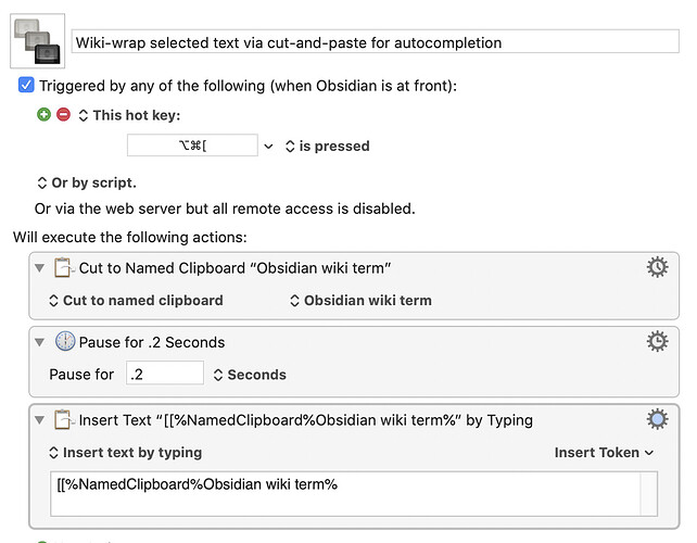 Wiki-wrap selected text via cut-and-paste for autocompletion