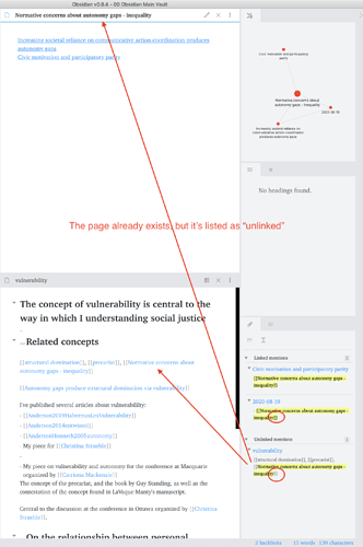Screen Shot 2020-08-14 of links not being preceived
