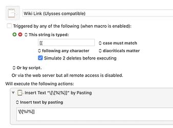 Insert Ulysses-compatible Wiki-link