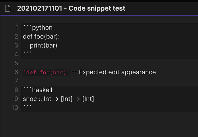 code snippet bug