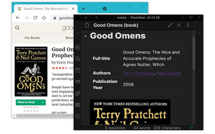 screenshot-goodreads-obsidian