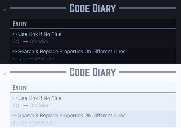 Setup-Journal - Code Diary DV